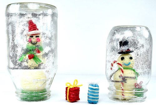Finished Snowman and Snow Globe