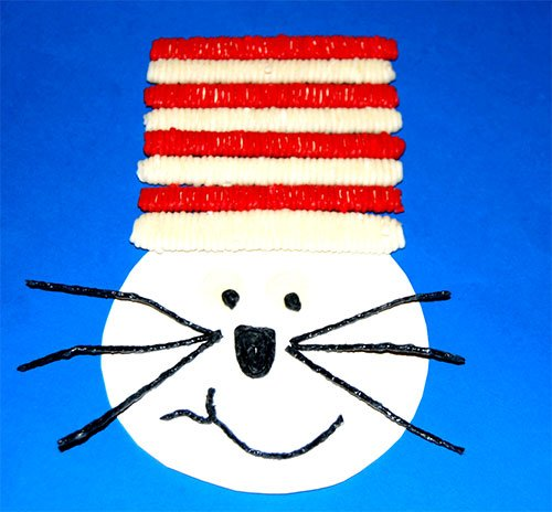 Cat in the Hat Popsicle Stick Crafts for Kids