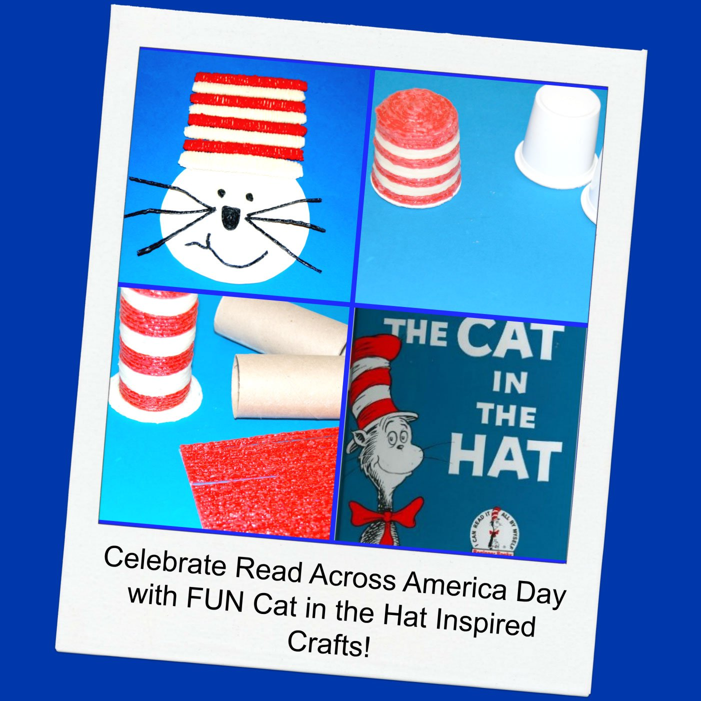 Cat in the Hat Inspired Crafts for Kids!