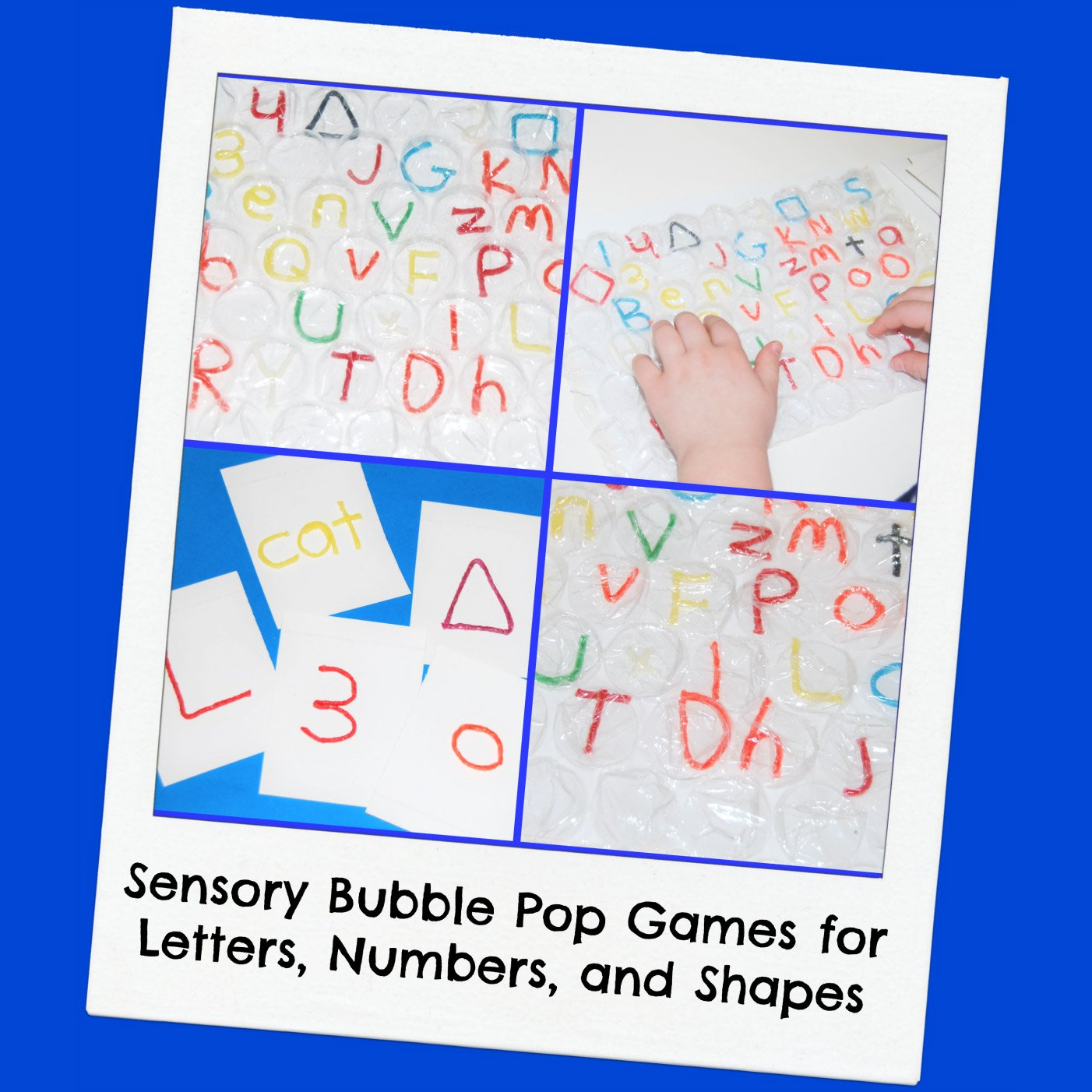 Sensory Bubble Pop Games for Letters, Numbers, and Shapes