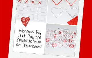 Valentine's Day Print, Play, and Create Activities for Preschoolers!