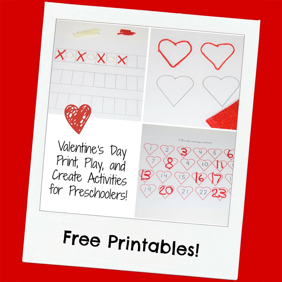 Valentine\'s Day Print, Play, and Create Activities for Preschoolers ...