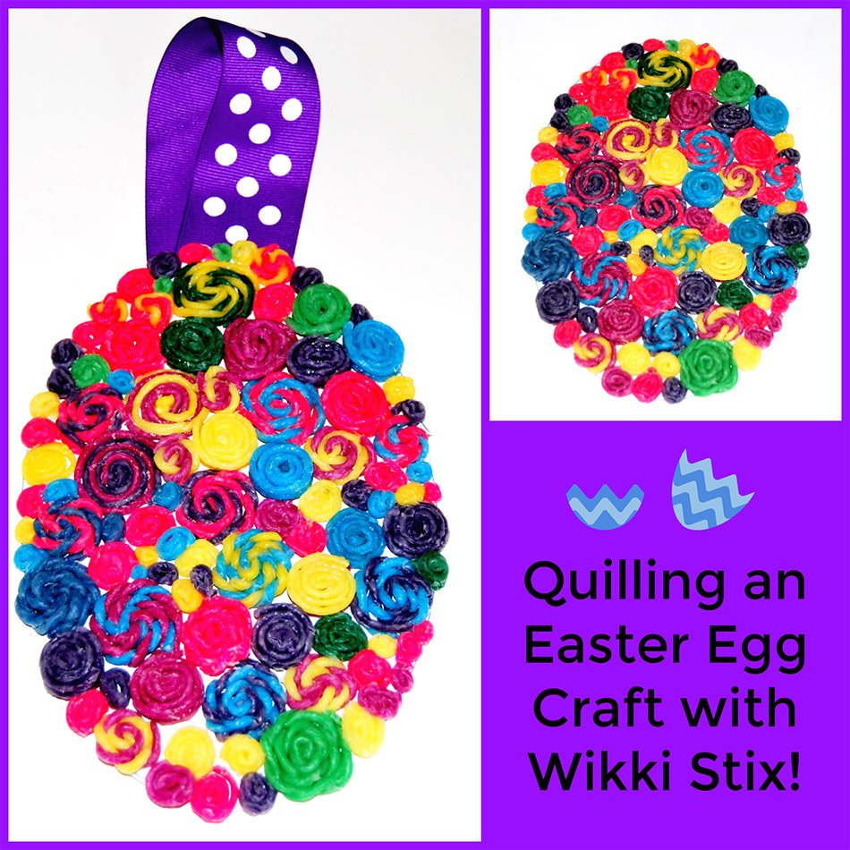 Quilling an Easter Egg Craft with Wikki Stix!