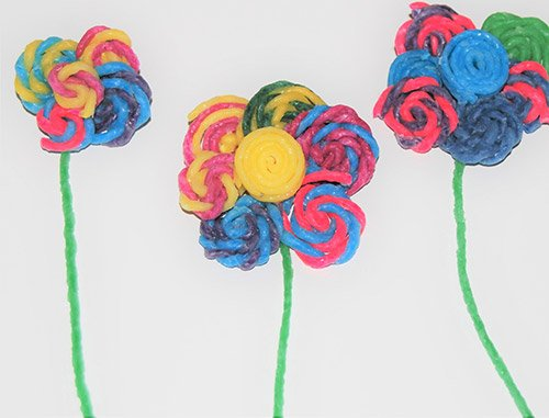 Wikki Stix Flower Crafts