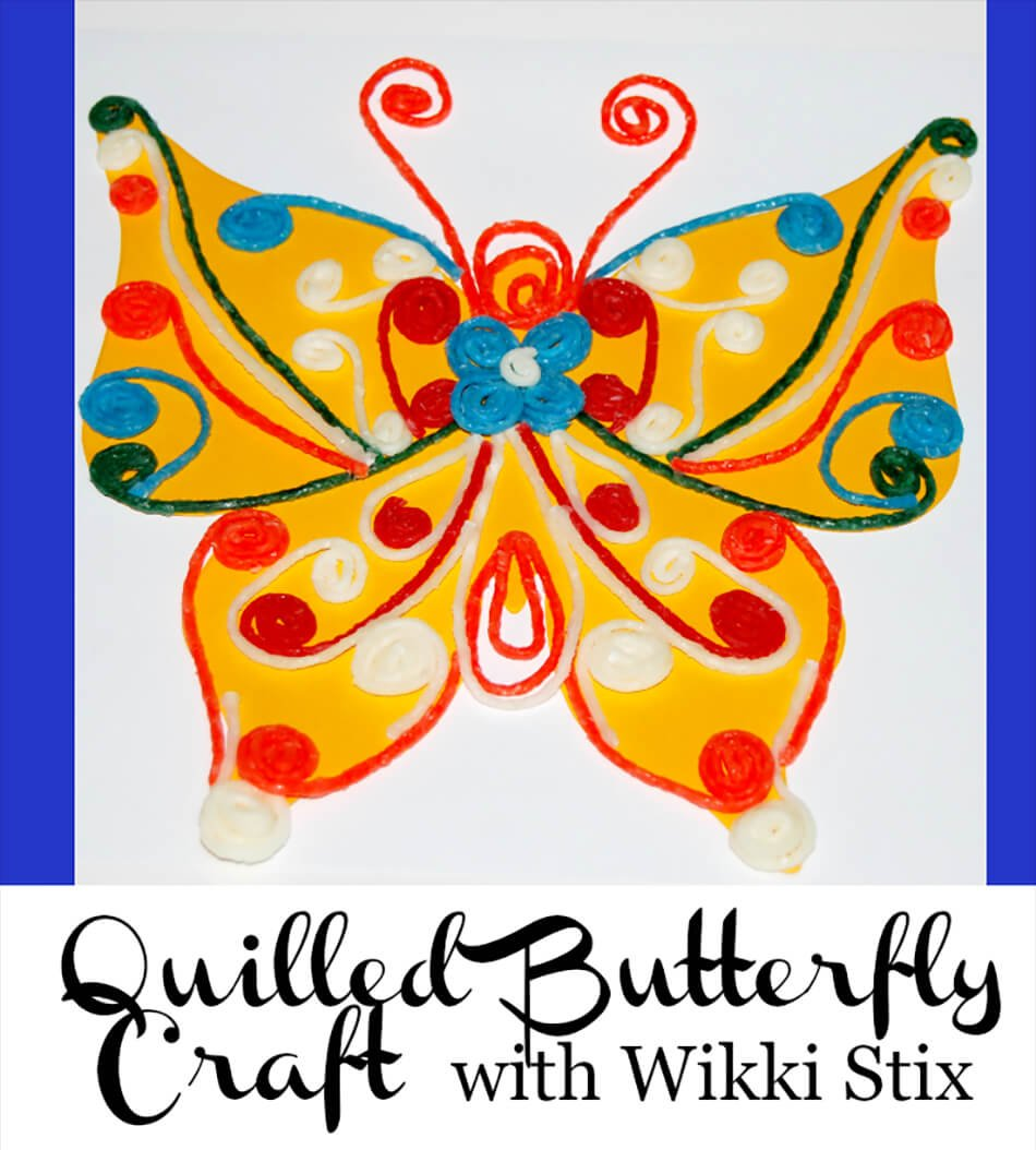 Quilled Butterfly Crafts with Wikki Stix