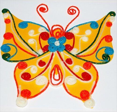 Wikki Stix Quilled Butterfly Craft