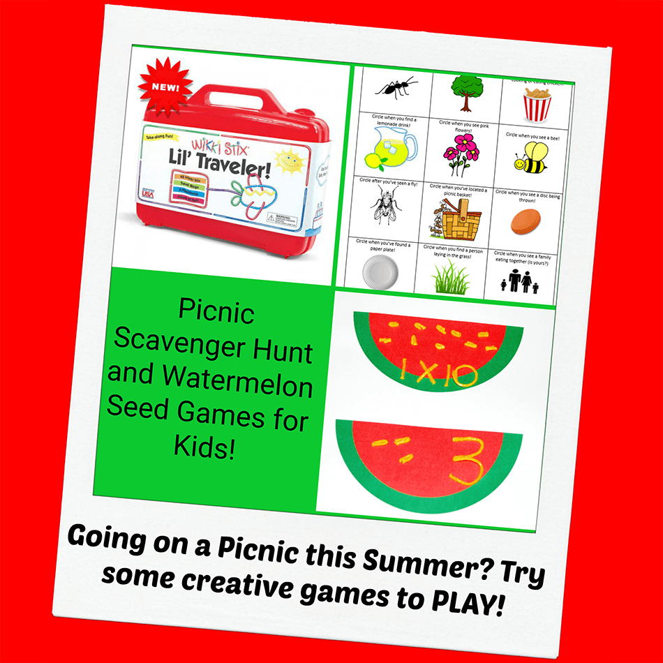 Picnic Scavenger Hunt and Watermelon Seed Games for Kids!