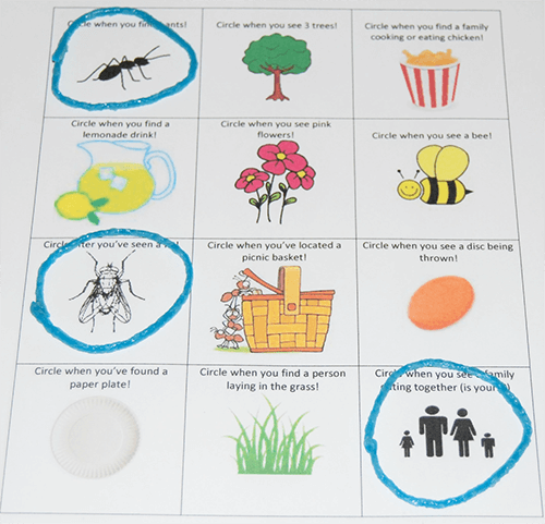 Picnic Scavenger Hunt Games for Kids