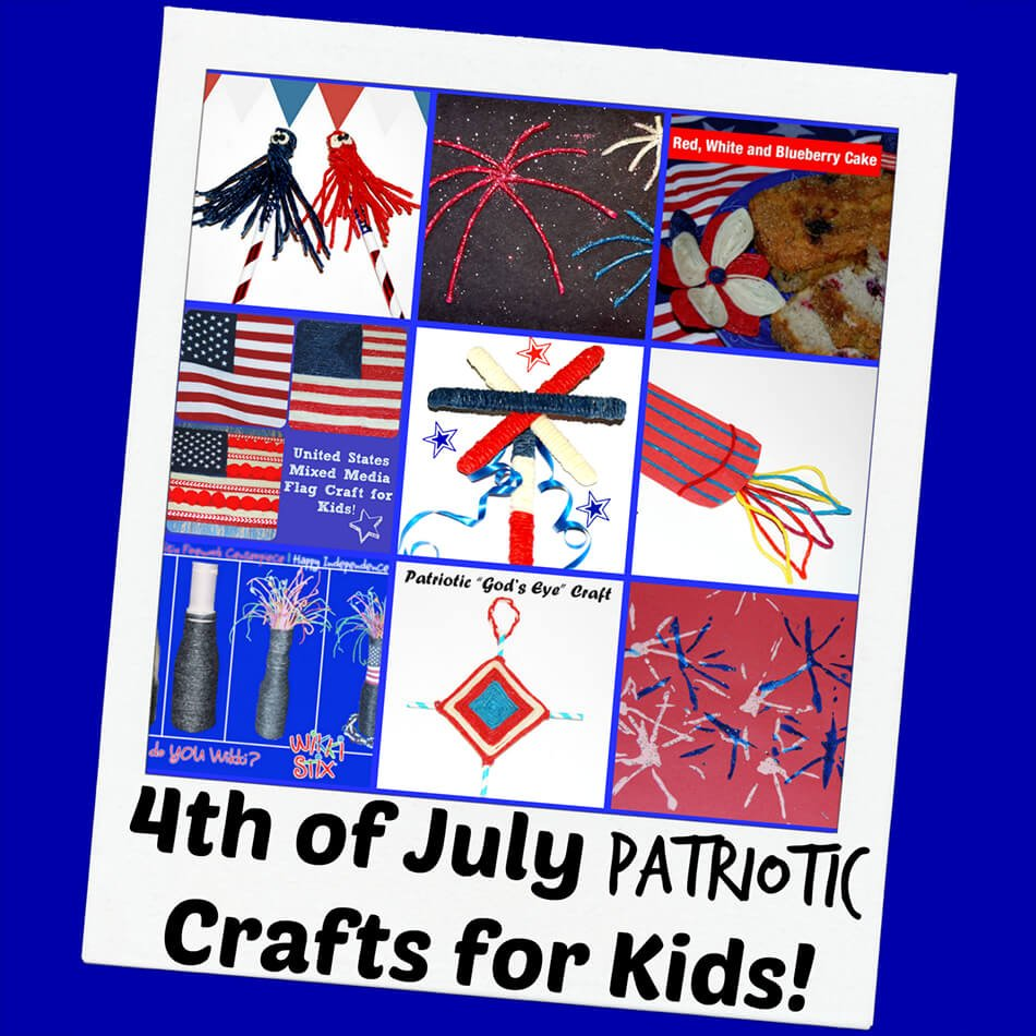 4th of July Patriotic Crafts and Decorations for Kids!