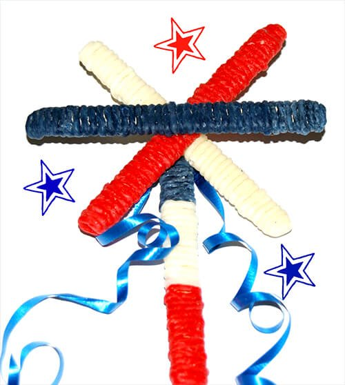 Wikki Stix Patriotic Wand Craft