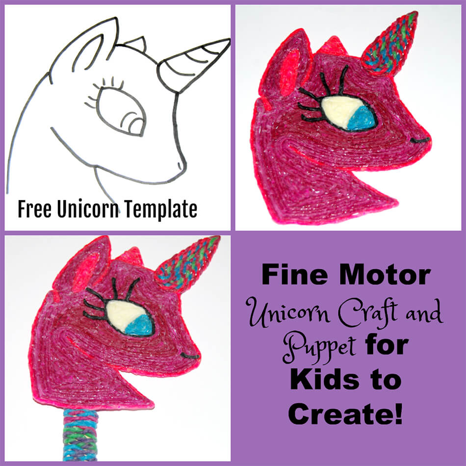 Fine Motor Unicorn Puppet Craft for Kids to Create!