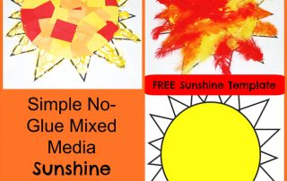 Simple No-Glue Mixed Media Sunshine Crafts for Kids!