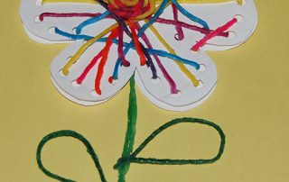 Wikki Stix No-Glue Flower String Art Craft for Kid