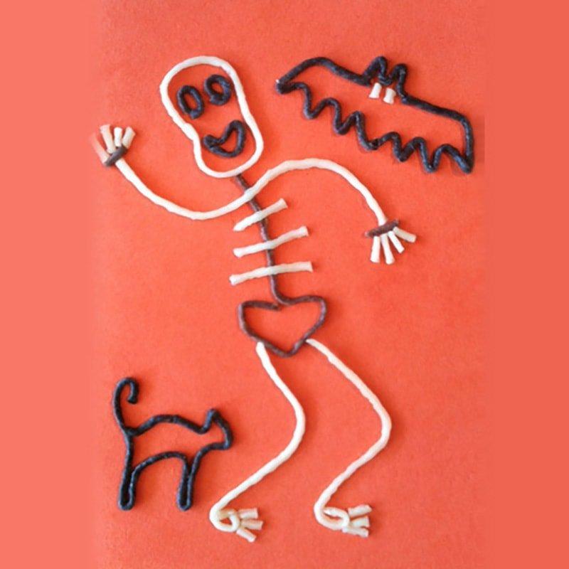 3-D Wikki Stix Skeletons