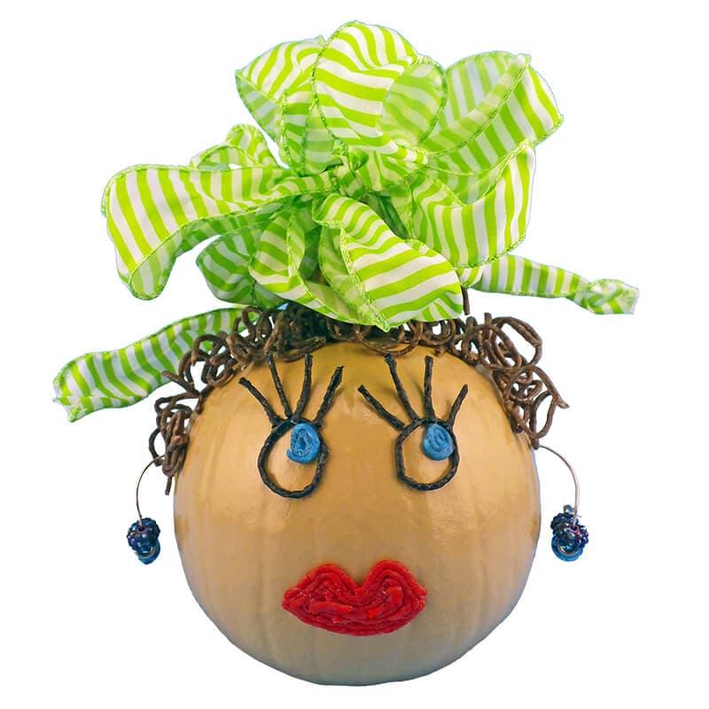 Halloween Girl Pumpkin