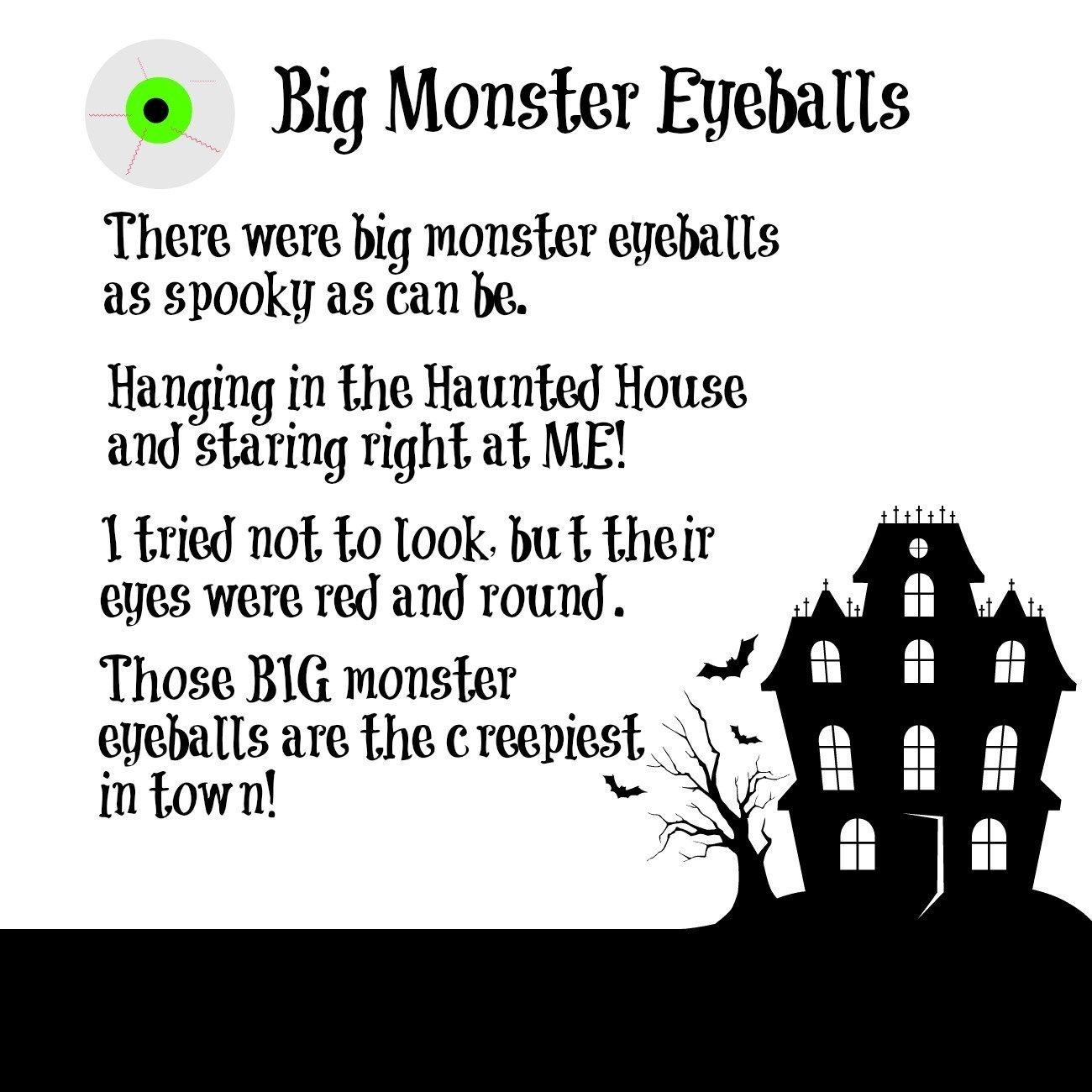 big monster eyeballs poem and spooky craft for kids wikki stix