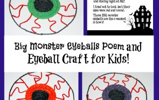 Big Monster Eyeballs Poem and Spooky Craft for Kids!