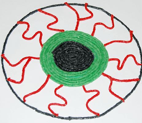 Green Monster Eyeball Craft
