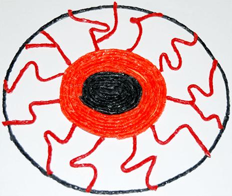 Orange Spooky Monster Eyeball Craft