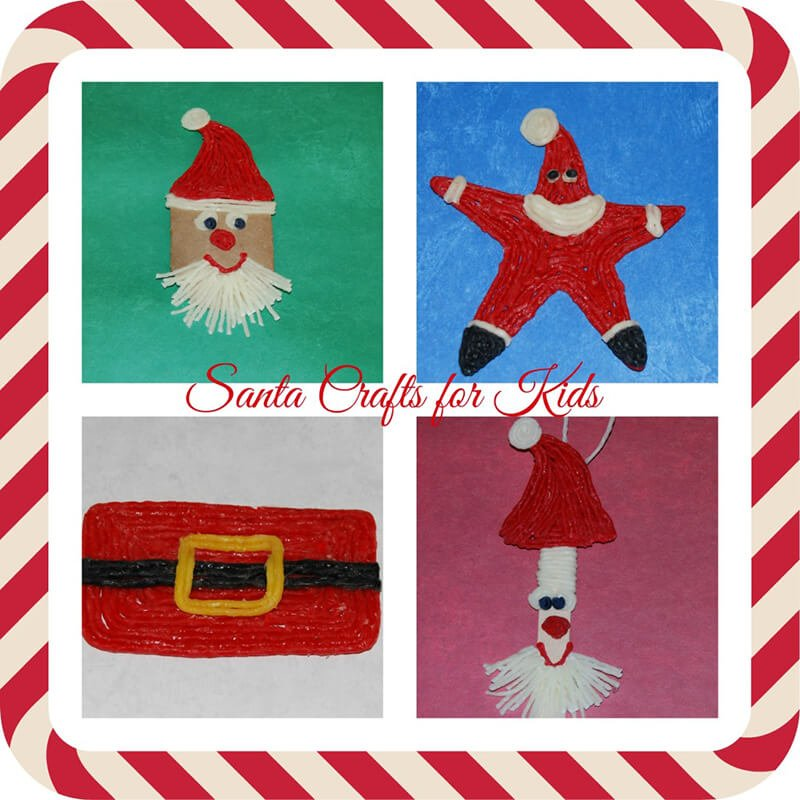 Santa Crafts for Kids of All Ages!