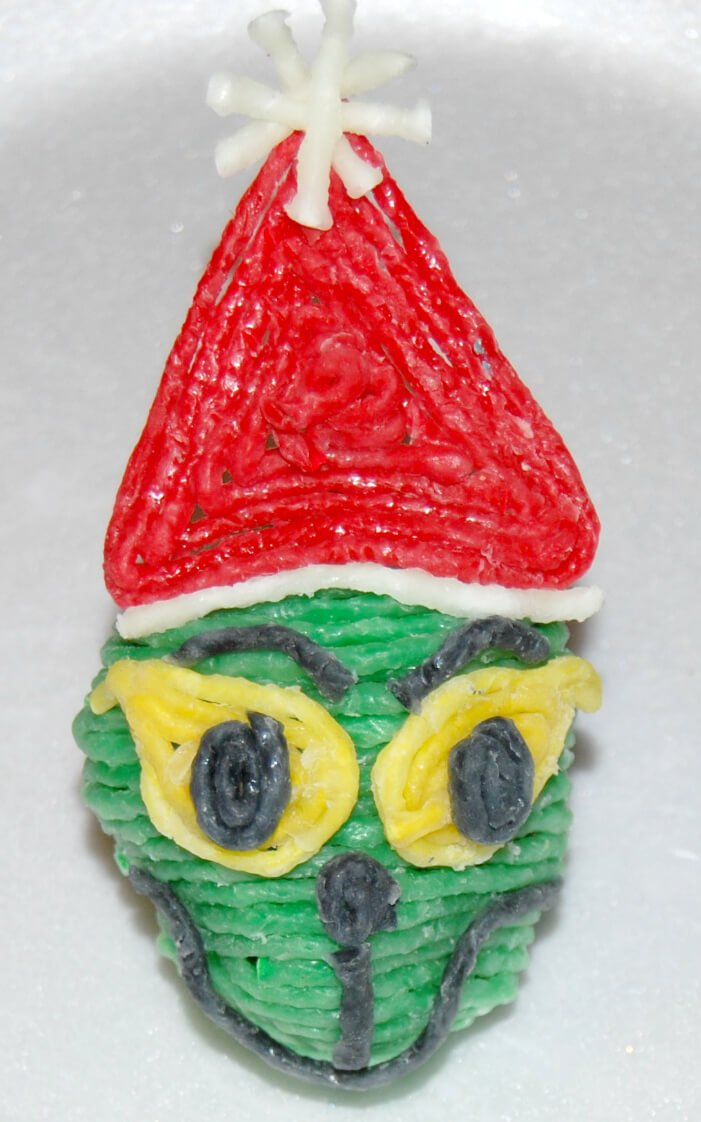 Grinch Decorated Rocks