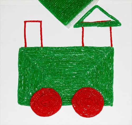 Wikki Stix Polar Express Shape Train Craft