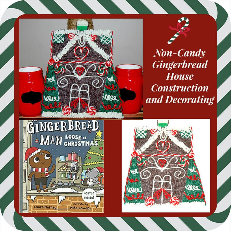 Non-Candy Gingerbread House Construction and Decorating for Kids!