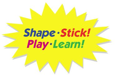 Shape, play, stick, learn
