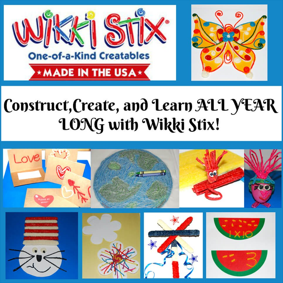 Construct, Create, and Learn All Year Long with Wikki Stix!