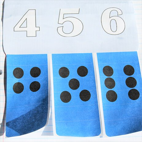 Cut Each Flap for Number or Dot Creation