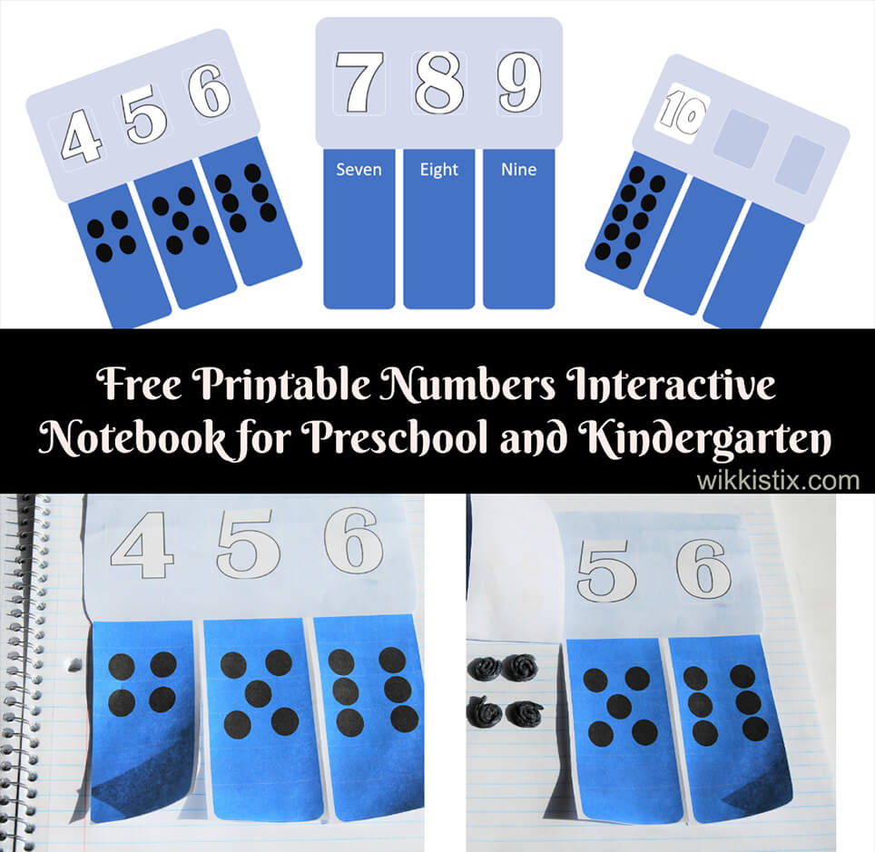 Interactive Numbers Notebook for Preschool and Kindergarten