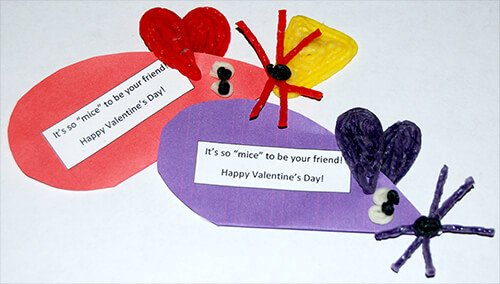 Mice Valentine Craft for Kids