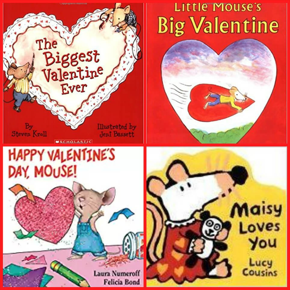 Valentine's Day Mouse-themed books