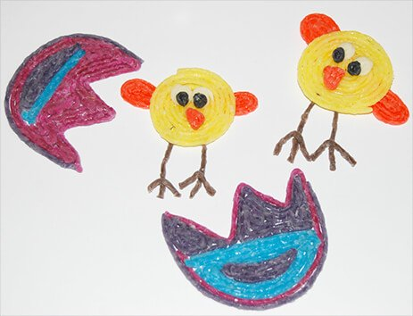 Easter Egg and Chicks Crafts