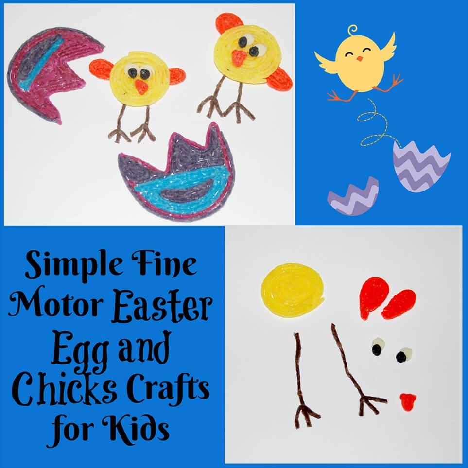 Fine Motor Easter Egg and Chicks Crafts for Kids!