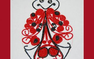 Ladybug Quilled Crafts with Wikki Stix
