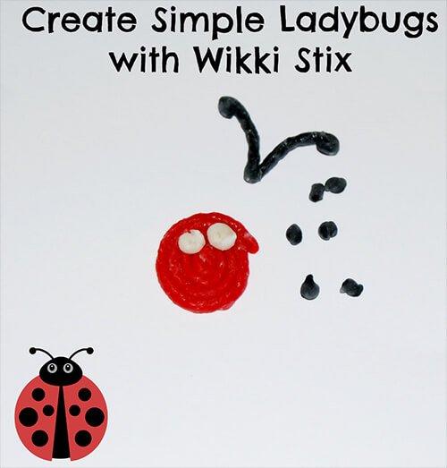 Create Simple Ladybugs with Wikki Stix