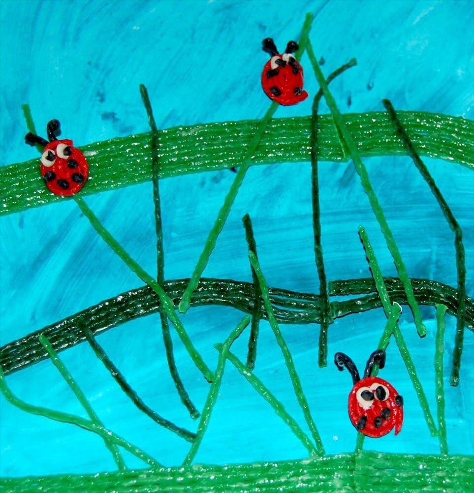 Ladybug Fine Motor Art for Kids