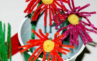 Wikki Stix Flower Craft for Mother's Day