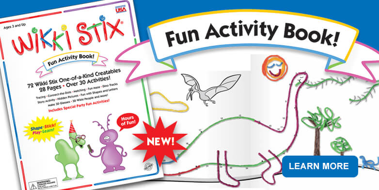 New Activity Book - includes 72 Wikki Stix