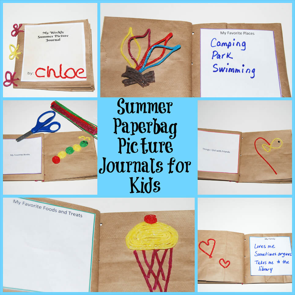 Summer Paper Bag Picture Journals for Kids!