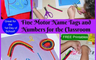 Fine Motor Name Tags and Numbers for the Classroom!