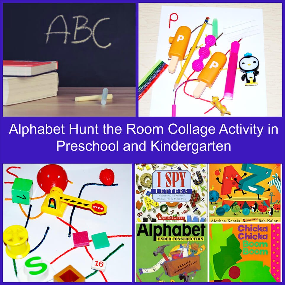 Alphabet Hunt the Room Activity in Preschool