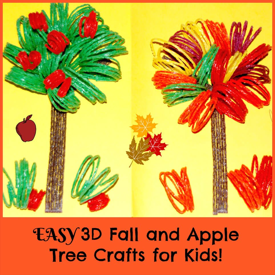 EASY 3D Fall and Apple Tree Crafts for Kids! | Wikki Stix