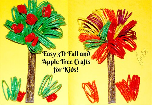 Easy 3D Fall and Apple Tree Crafts for Kids
