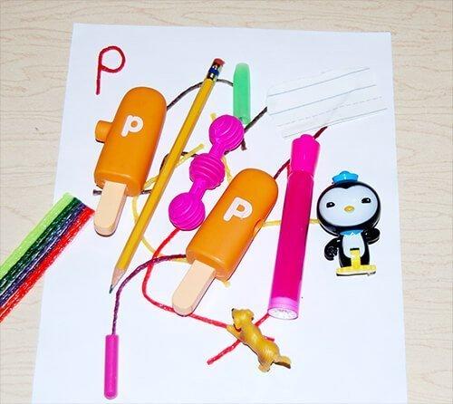 Letter P Hunt the Room Activity in Kindergarten