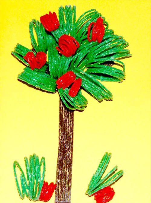 Wikki Stix 3D Apple Tree Craft for Kids