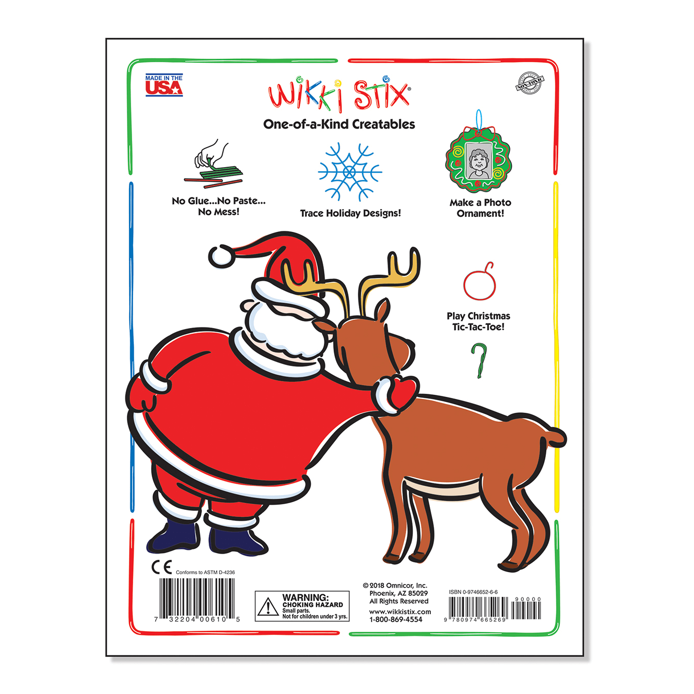Christmas Activity Book Back