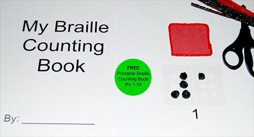 Braille Counting Book for Numbers 1 through 10 with Wikki Stix