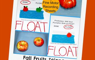 Fall Fruits Science Pumpkins and Apples Sink or Float